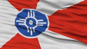 Nahaufnahme der Wichita-Stadt-Flagge lizenzfreie abbildung