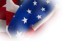 Nahaufnahme der zerfallenen Staatsflagge Stockfoto