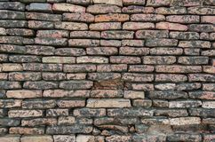 Nahaufnahme der Ziegelsteinwand in Derawar-Fort Bahawalpur Pakistan stockfotografie