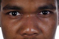 Nahaufnahme des Afroamerikanermannes lizenzfreie stockfotografie