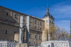 Nahaufnahme des Alcazar von Toledo spanien Lizenzfreie Stockfotografie