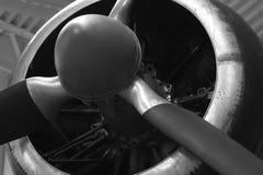 Nahaufnahme des alten Propellers Stockbild