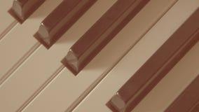 Nahaufnahme des alten Retrostils des Musikinstrumentes der Klavierschlüssel stockbilder
