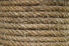 Nahaufnahme des alten Seils Stockfotografie