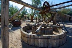 Nahaufnahme des alten Wasserpumpen-Mechanismus Stockbild