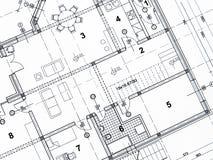 Nahaufnahme des Architekturprojektes lizenzfreies stockfoto