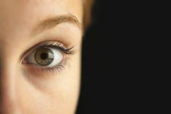 Nahaufnahme des Auges lizenzfreie stockbilder