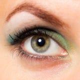 Nahaufnahme des Auges einer schönen Frau Lizenzfreie Stockfotografie