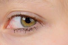 Nahaufnahme des Auges eines Mädchens Stockfotografie