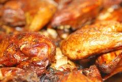 Nahaufnahme des BBQ-Huhns Stockbild