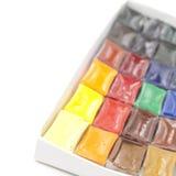 Nahaufnahme des benutzten Water-color Lizenzfreie Stockbilder