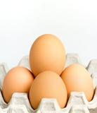 Nahaufnahme des braunen Eies des Huhns Lizenzfreies Stockbild