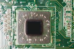 Nahaufnahme des Brettes der elektronischen Schaltung Lizenzfreie Stockbilder