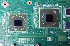 Nahaufnahme des Brettes der elektronischen Schaltung Lizenzfreie Stockfotografie
