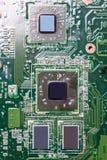 Nahaufnahme des Brettes der elektronischen Schaltung Stockfotos