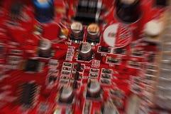 Nahaufnahme des Brettes der elektronischen Schaltung Lizenzfreies Stockfoto