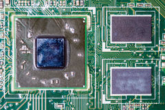 Nahaufnahme des Brettes der elektronischen Schaltung Lizenzfreies Stockbild