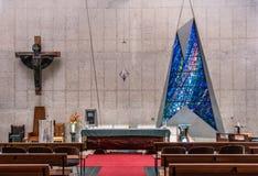 Nahaufnahme des Chores von Darwin Christ Cathedral, Australien stockfotos