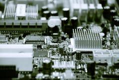 Nahaufnahme des Computermotherboards Lizenzfreies Stockfoto