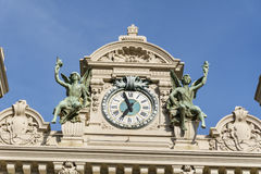 Nahaufnahme des Dachs von Monte Carlo Casino, Monaco, Frankreich Stockfoto