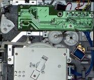 Nahaufnahme des elektronischen Innenraums eines Druckers Stockfotografie