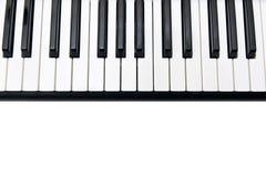 Nahaufnahme des elektronischen Klaviers Lizenzfreie Stockfotografie