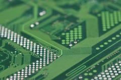 Nahaufnahme des elektronischen Kreisläufs Stockbild