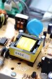 Nahaufnahme des elektronischen Kreisläufs Stockbilder
