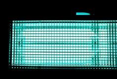Nahaufnahme des Filmleuchtkörpers gegen schwarzen Hintergrund Lizenzfreie Stockbilder