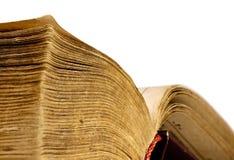 Nahaufnahme des geöffneten Buches Lizenzfreie Stockfotos