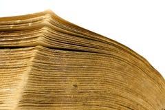 Nahaufnahme des geöffneten Buches Stockbilder