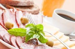 Nahaufnahme des gedienten Frühstücks Lizenzfreie Stockfotografie