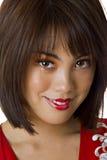 Nahaufnahme des Gesichtes der asiatischen Frau Lizenzfreies Stockfoto