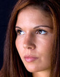 Nahaufnahme des Gesichtes der schönen Frau Stockfotos