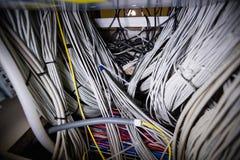 Nahaufnahme des Gestell angebrachten Servers Lizenzfreies Stockbild