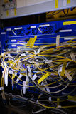 Nahaufnahme des Gestell angebrachten Servers Stockfotos