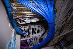 Nahaufnahme des Gestell angebrachten Servers Lizenzfreie Stockfotografie