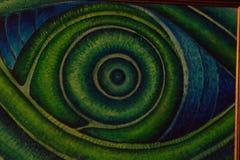 Nahaufnahme des grünen menschlichen Auges Stockbilder