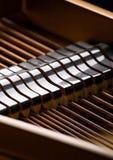 Nahaufnahme des großartigen Klaviers Lizenzfreie Stockfotos