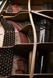 Nahaufnahme des großartigen Klaviers Lizenzfreies Stockfoto
