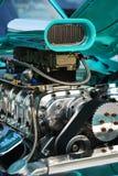 Nahaufnahme des Hotrod Motors Stockfotografie