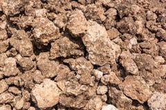 Nahaufnahme des im Brennofen, Hunsur verwendet zu werden Kalksteins, Karnataka, Indi stockfotografie