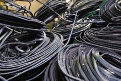 Industrieller Drahthintergrund Lizenzfreies Stockfoto