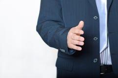 Nahaufnahme des jungen Geschäftsmannes Hand gebend lizenzfreies stockbild