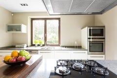 Nahaufnahme des Küche worktop Stockfotos