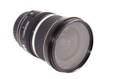 Nahaufnahme des Kameraobjektivs, vorgerückte Fotoausrüstung Stockfotografie