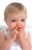 Nahaufnahme des Kleinkind-Mädchens Stockfotos