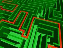 Nahaufnahme des Labyrinths Lizenzfreies Stockbild