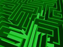 Nahaufnahme des Labyrinths Stockbild