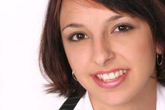 Nahaufnahme des Mädchens lächelnd an Ihnen Lizenzfreie Stockfotos